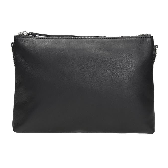 Černá kožená Crossbody kabelka bata, černá, 964-6292 - 26