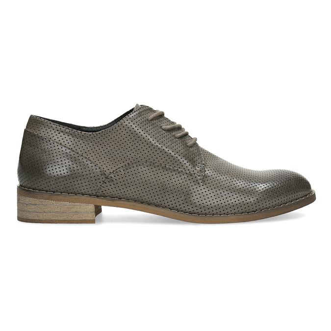 Dámské polobotky s perforací bata, šedá, 521-2609 - 19