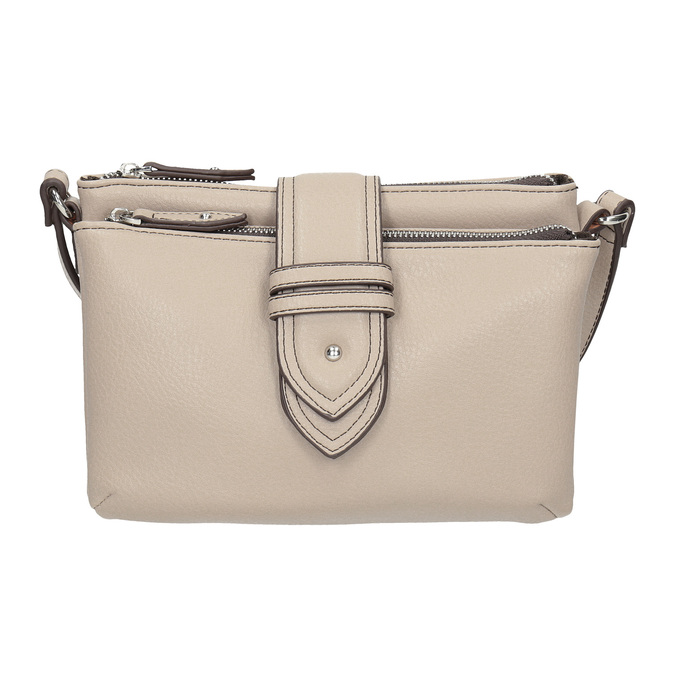 Dámská Crossbody kabelka s přezkou bata, šedá, 961-2683 - 26