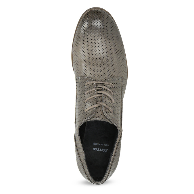 Dámské polobotky s perforací bata, šedá, 521-2609 - 17