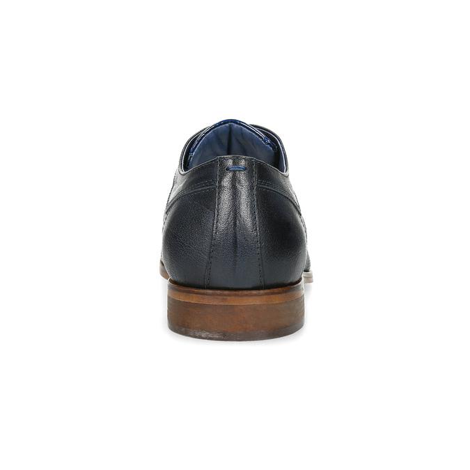 Modré kožené polobotky se strukturou bata, modrá, 826-9825 - 15