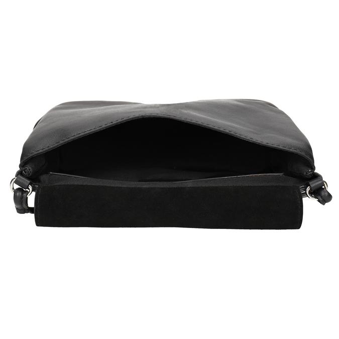 Kožená dámská Crossbody kabelka bata, černá, 964-6291 - 15
