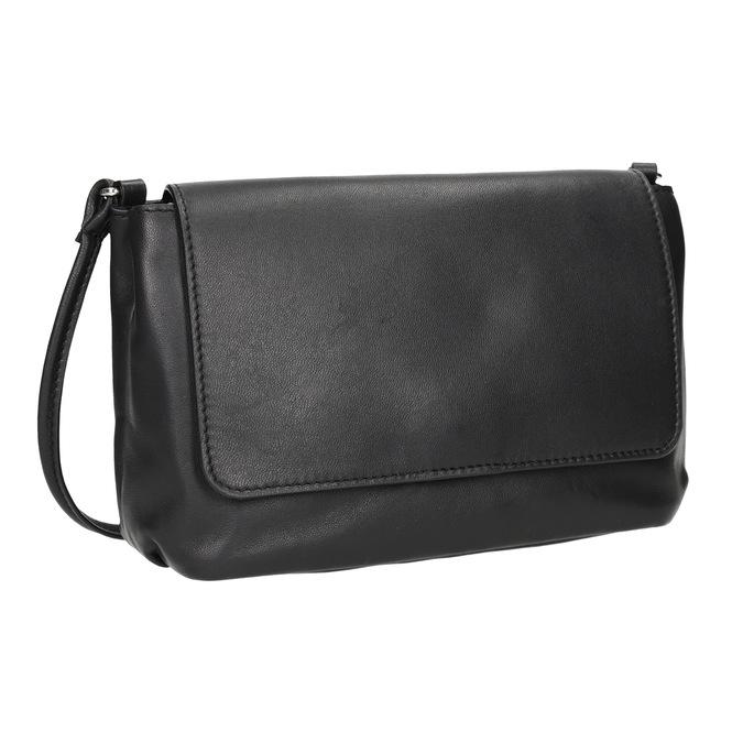 Kožená dámská Crossbody kabelka bata, černá, 964-6291 - 13