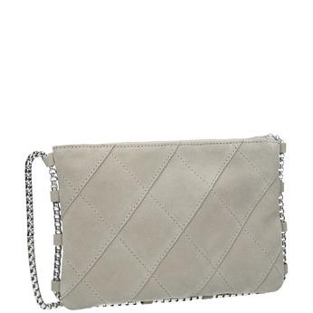 Kožená dámská Crossbody kabelka bata, šedá, 963-1193 - 13