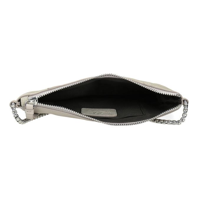 Kožená dámská Crossbody kabelka bata, šedá, 963-1193 - 15