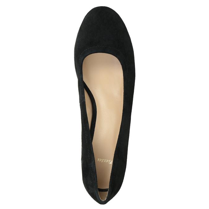 Kožené lodičky na stabilním podpatku bata, černá, 623-6644 - 15