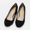 Kožené lodičky na stabilním podpatku bata, černá, 623-6644 - 16