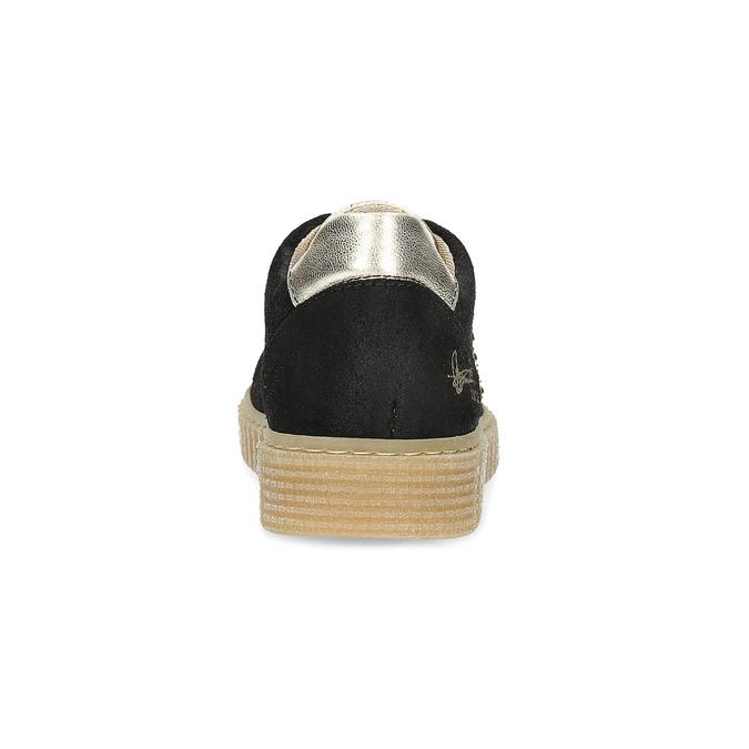 Kožené dětské tenisky se cvoky mini-b, černá, 324-6605 - 15