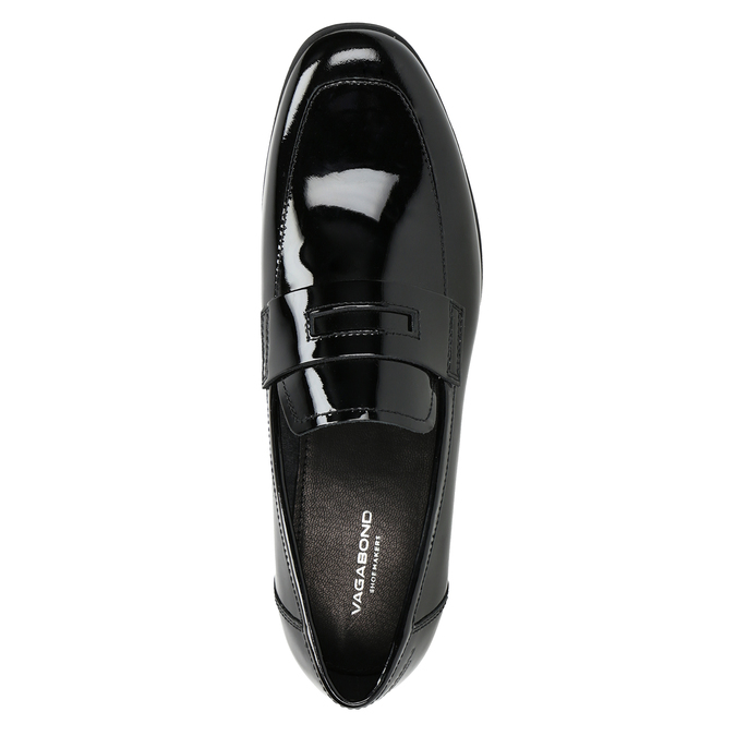 Lakované dámské kožené mokasíny vagabond, černá, 518-6095 - 15
