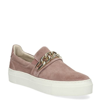 Kožená dámská Slip-on obuv bata, 513-5600 - 13