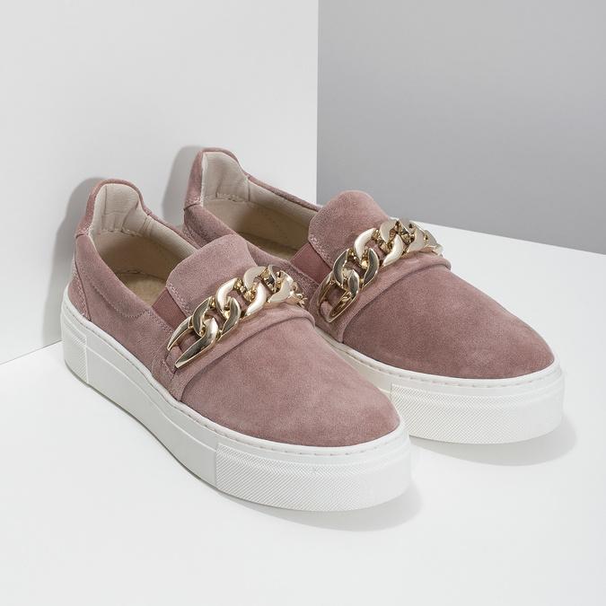 Kožená dámská Slip-on obuv bata, 513-5600 - 26