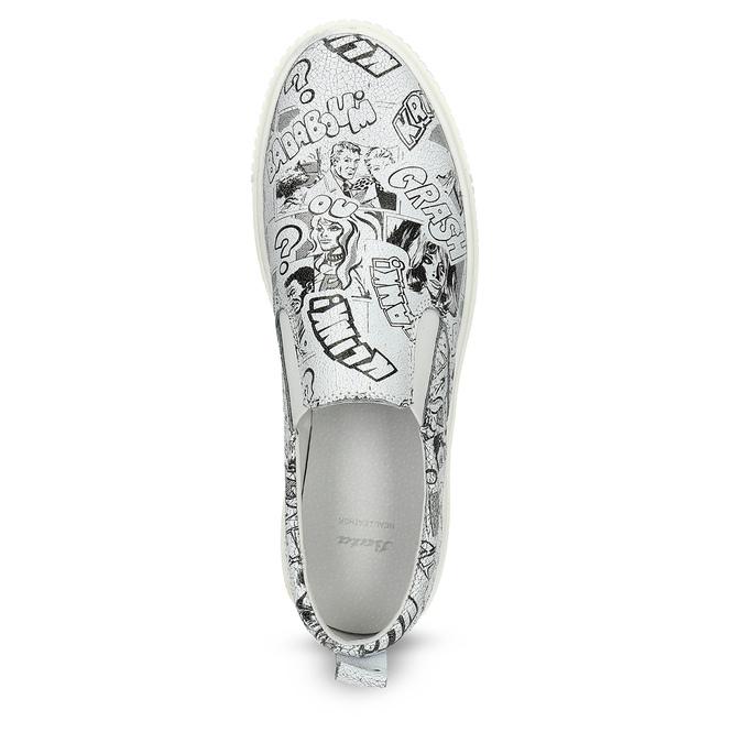 Dámská kožená Slip-on obuv bata, bílá, 536-1608 - 17