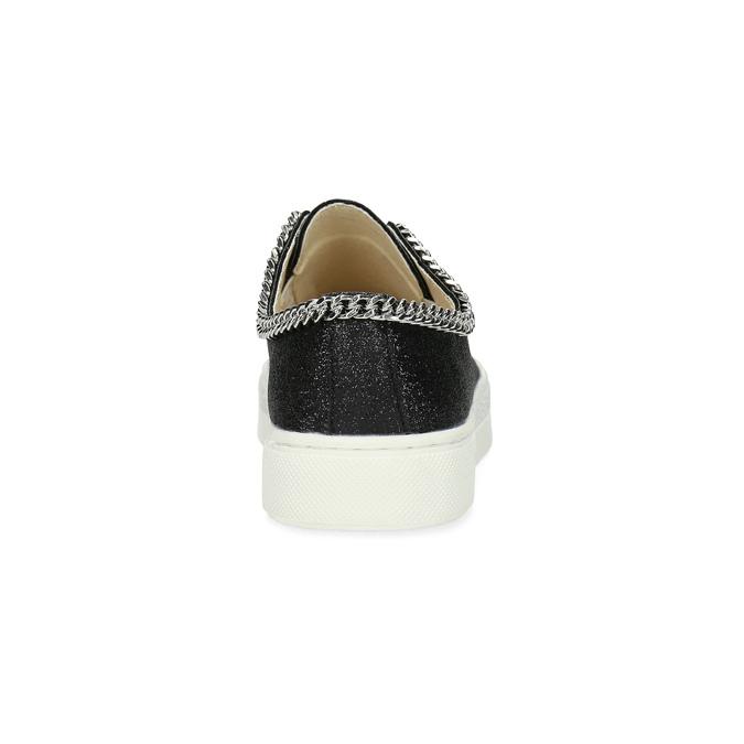 Dětské tenisky s řetízkem mini-b, černá, 321-6307 - 15