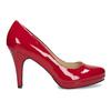 Červené lodičky z lakované kůže insolia, červená, 728-5104 - 19