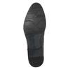 Tmavě hnědé kožené polobotky bata, hnědá, 824-4983 - 17
