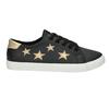 Dámské tenisky s hvězdičkami north-star, černá, 541-6601 - 16