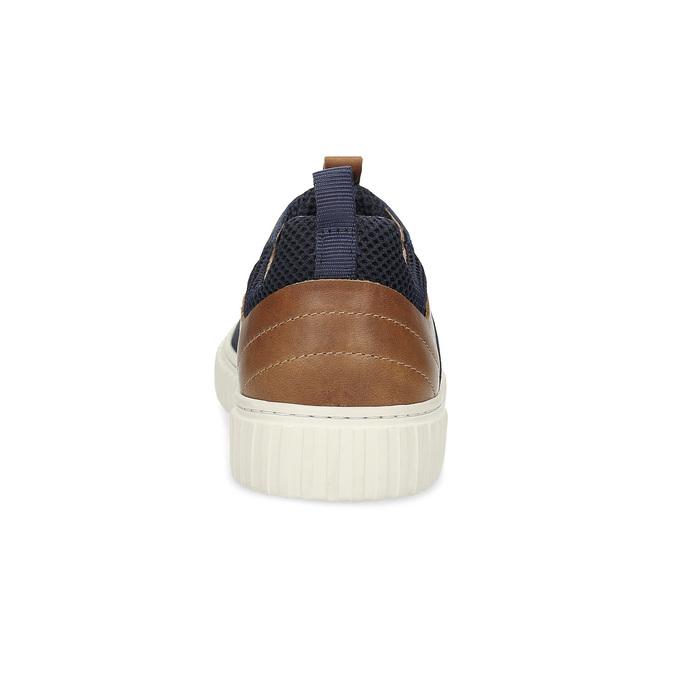 Ležérní kožené tenisky bata, modrá, 843-9637 - 15