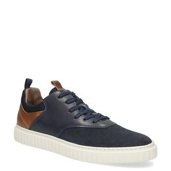 Ležérní kožené tenisky bata, modrá, 843-9637 - 13