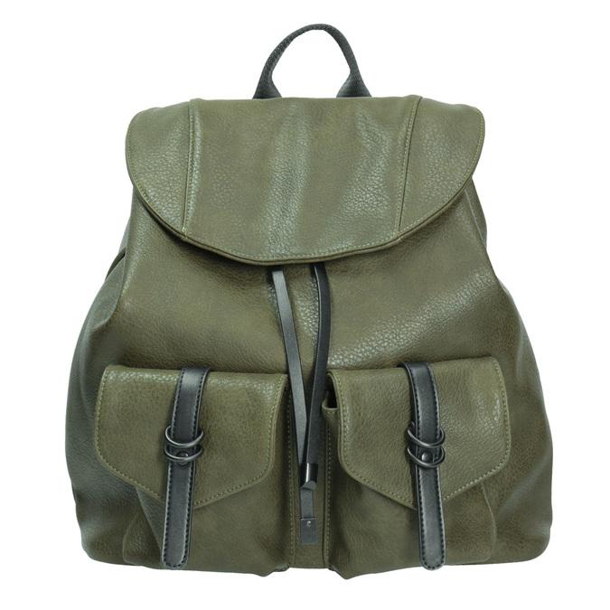 Dámský zelený batoh bata, khaki, 961-7833 - 26