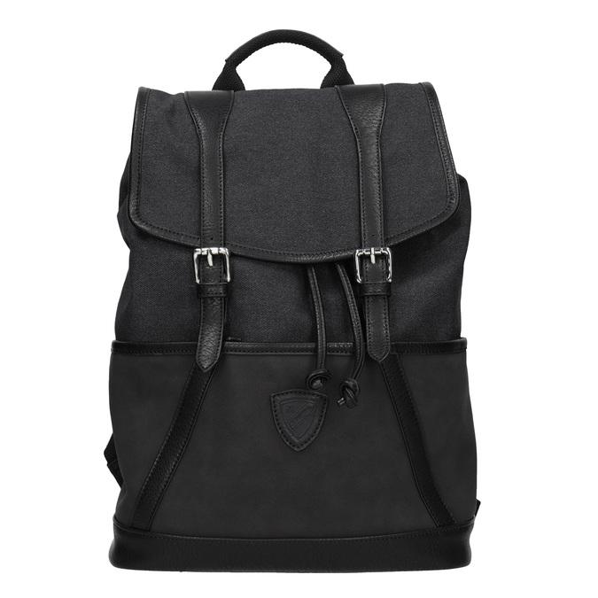Unisex batoh s přezkami atletico, černá, 969-6678 - 26