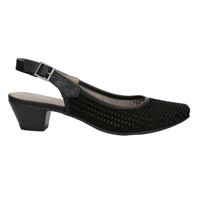 Lodičky šíře H s volnou patou bata, černá, 623-6645 - 26