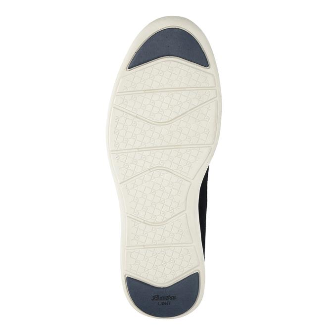 Pánské kožené tenisky bata-light, modrá, 844-9161 - 19