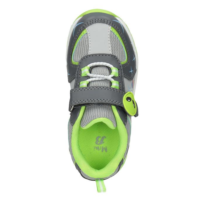 Zelené dětské tenisky s blikající podešví mini-b, šedá, 211-2102 - 15