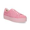Růžové kožené tenisky na flatformě vagabond, růžová, 623-5050 - 13