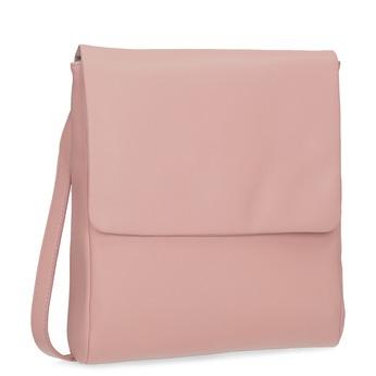 Růžová kožená Crossbody taška vagabond, růžová, 966-8064 - 13