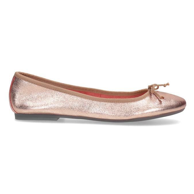 Kožené baleríny v odstínu Rose Gold bata, 526-5144 - 19