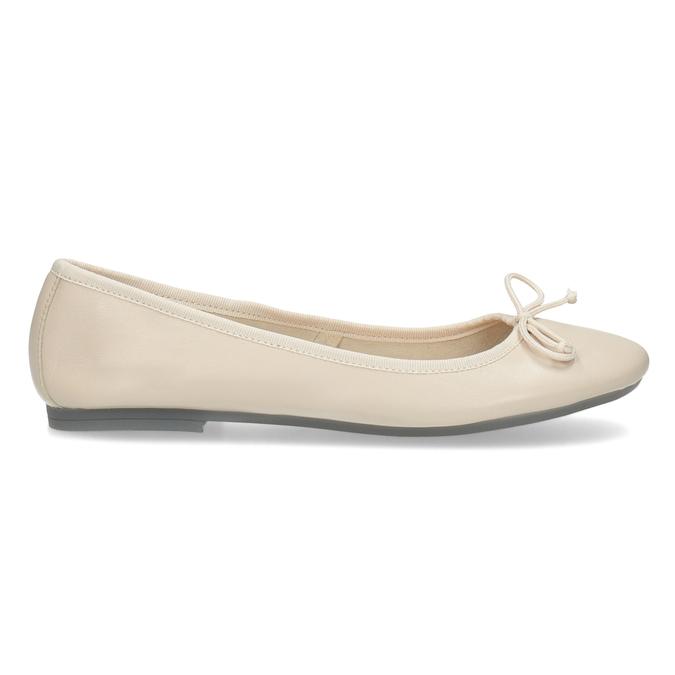 Kožené dámské baleríny béžové bata, béžová, 524-8144 - 19