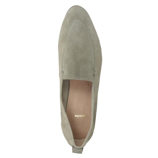 Dámské mokasíny z broušené kůže bata, béžová, 516-8618 - 17