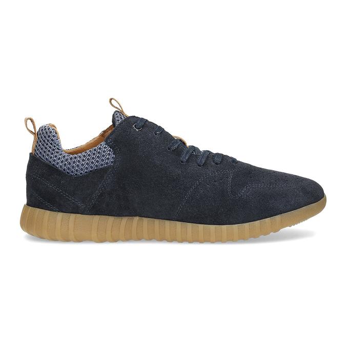 Pánské tenisky z broušené kůže modré bata, 843-9634 - 19