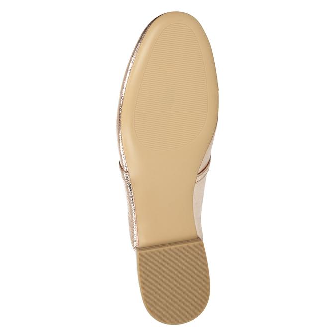 Dámské zlaté nazouváky s přezkou bata, zlatá, 511-8609 - 17