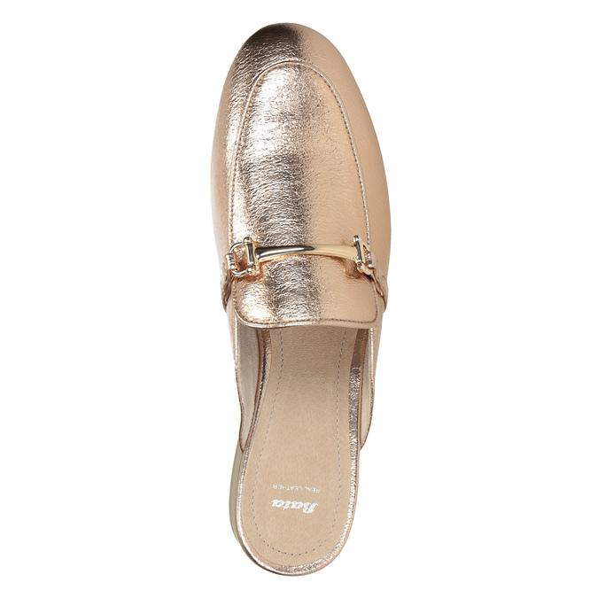 Dámské zlaté nazouváky s přezkou bata, zlatá, 511-8609 - 15
