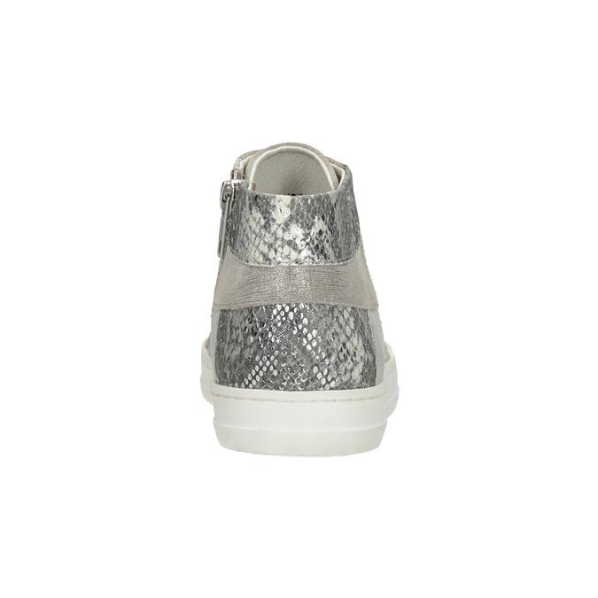 Kotníčkové kožené tenisky bata, šedá, 546-2608 - 16