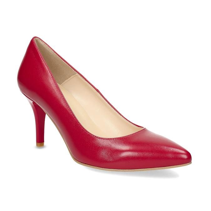 cd8ced6b3d0 Insolia Červené kožené lodičky do špičky - Všechny boty