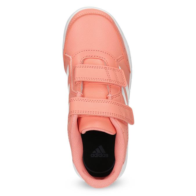 Dětské tenisky v lososové barvě adidas, růžová, 301-5151 - 17