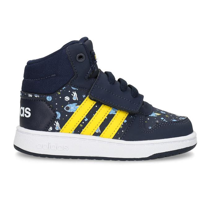 Chlapecké kotníčkové tenisky modré adidas, modrá, 101-9125 - 19
