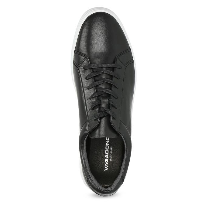 Kožené pánské tenisky černé vagabond, černá, 824-6030 - 17