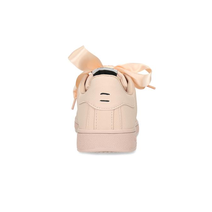 Růžové tenisky se saténovou mašlí pepe-jeans, růžová, 541-5076 - 15