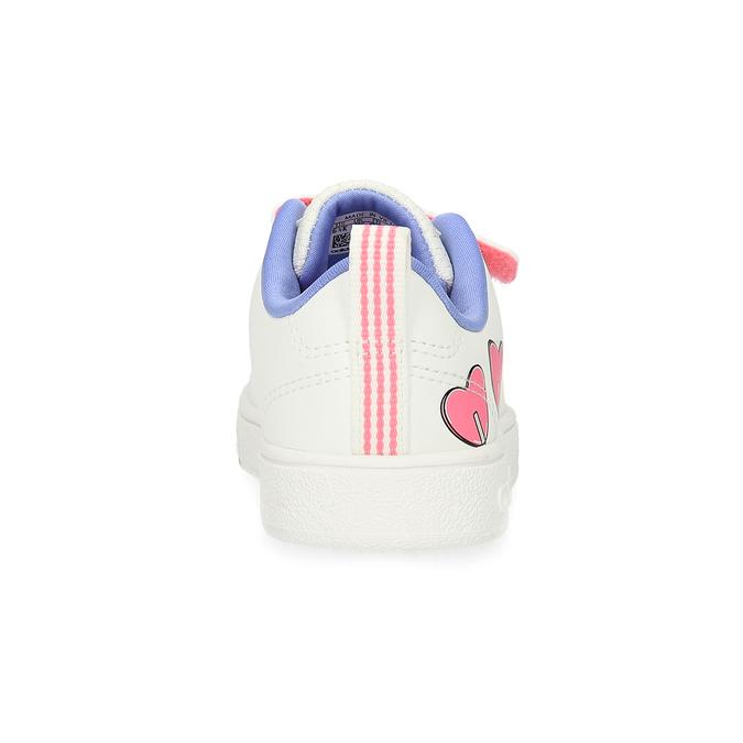 Dětské bílé tenisky se srdíčky adidas, bílá, 101-1129 - 15