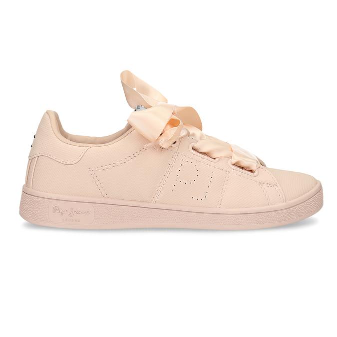 Růžové tenisky se saténovou mašlí pepe-jeans, růžová, 541-5076 - 19