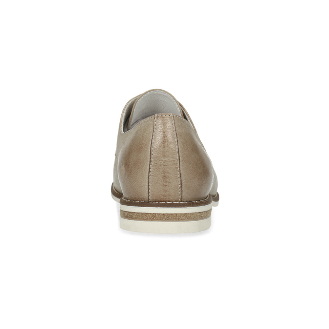 Kožené dámské polobotky bata, béžová, 526-8650 - 15