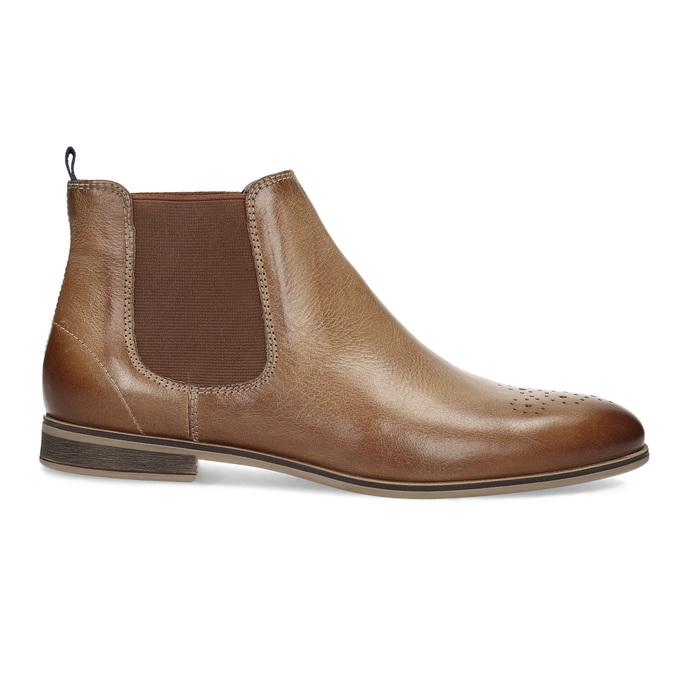 Dámská kožená Chelsea obuv bata, hnědá, 596-3684 - 19