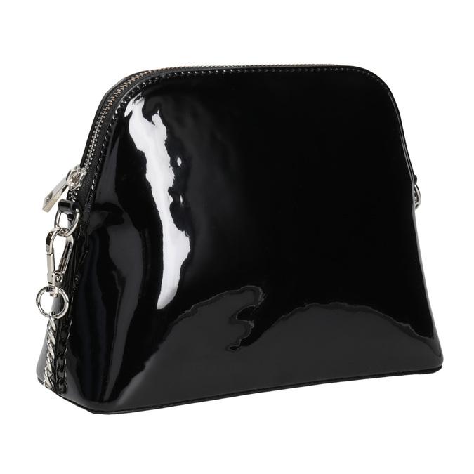 Lakovaná černá kabelka bata, černá, 961-6850 - 13