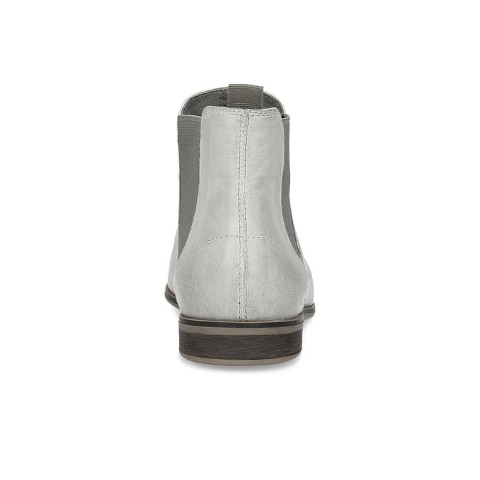 Kožená dámská Chelsea obuv bata, šedá, 596-1684 - 15
