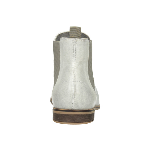 Kožená dámská Chelsea obuv bata, bílá, 596-1684 - 16