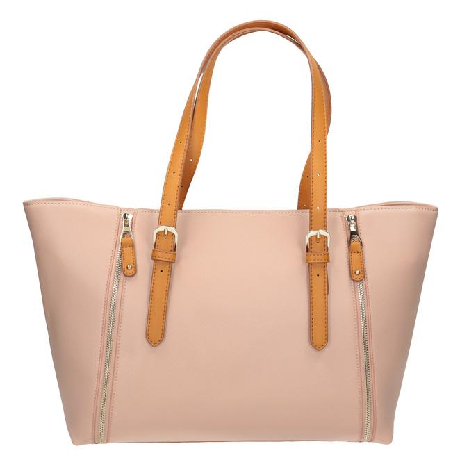 Růžová kabelka s hnědými uchy bata, růžová, 961-5840 - 26