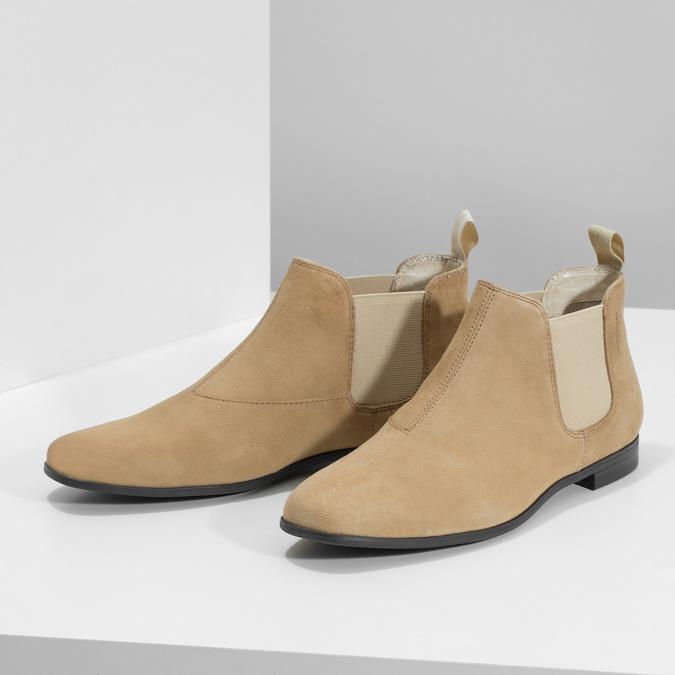 Kožené kotníčkové Chelsea Boots vagabond, hnědá, 513-4098 - 16